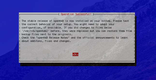 Upgrade auf openHAB 2.3 Stable erfolgreich