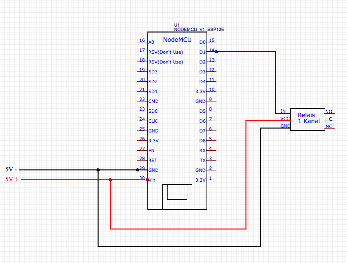NodeMCU mit Relais verbinden