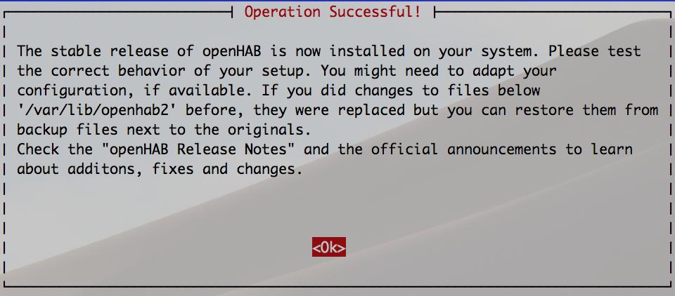 Upgrade openHAB 2.4 erfolgreich