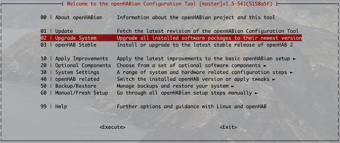 openHAB 2.5 Upgrade Pakete